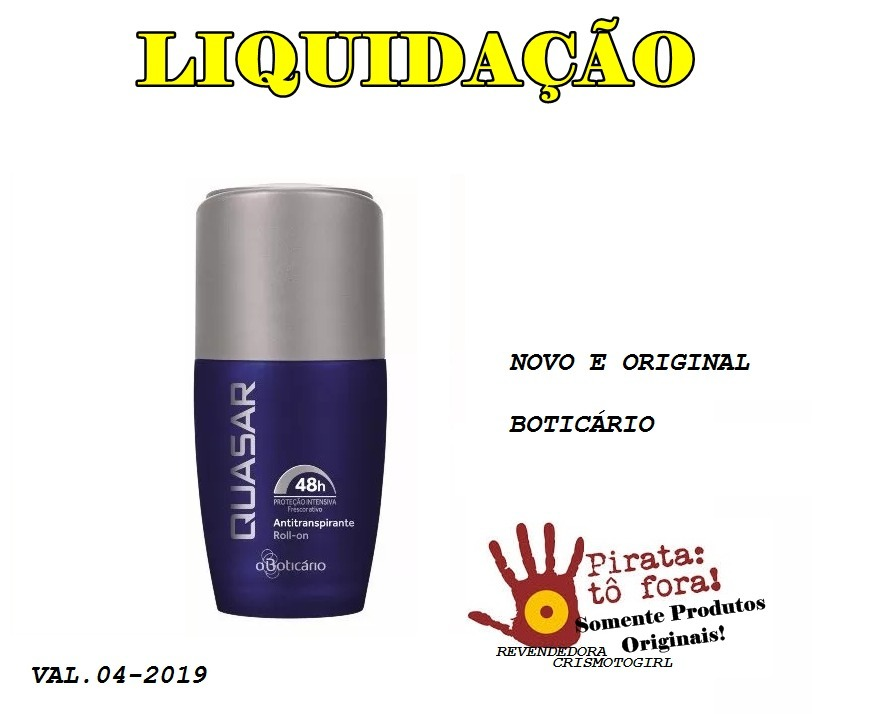 69c3a4afb Boticário Desodorante Roll-on Quasar 55ml  oferta  Val.04-19 - R  14 ...