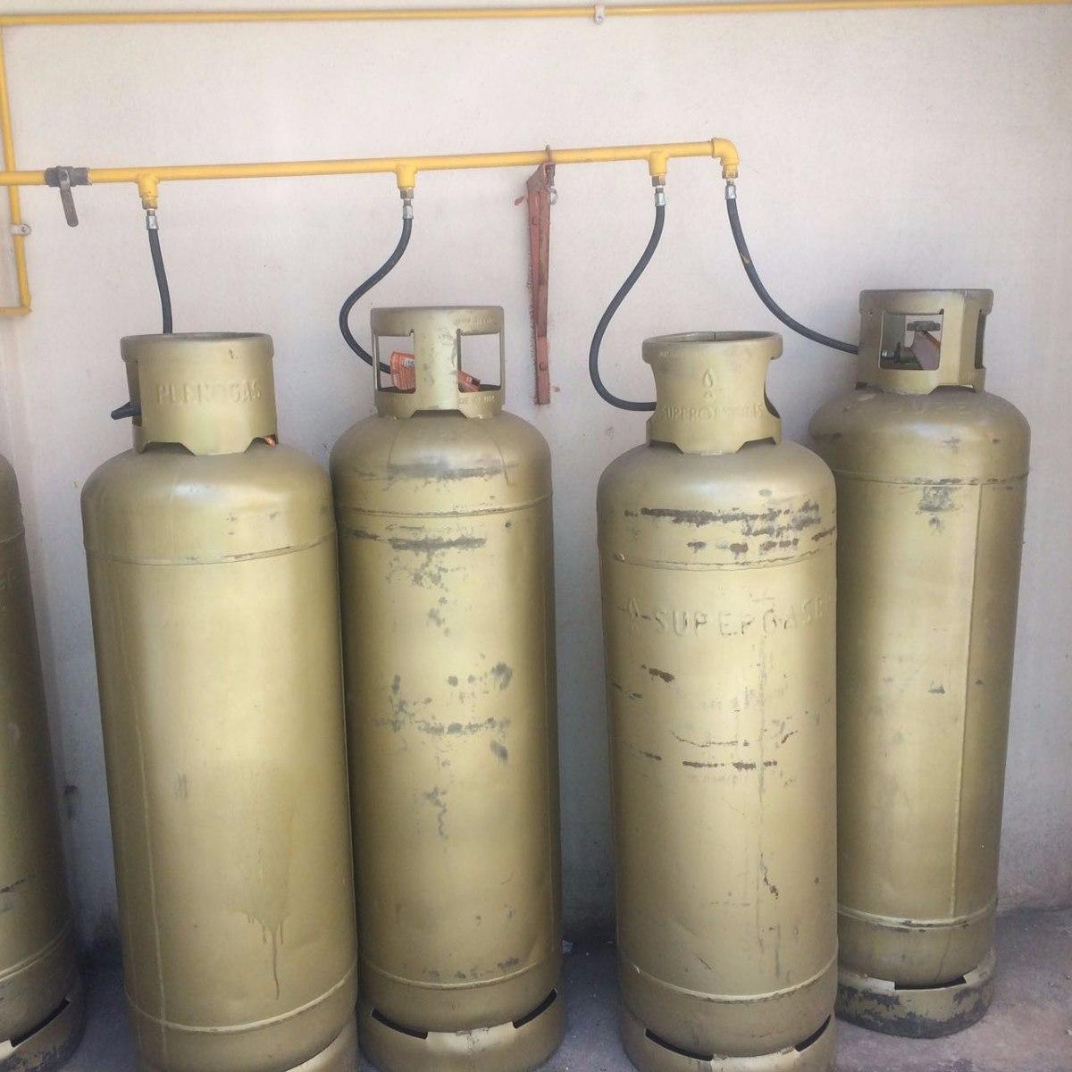 Botij o cilindro de g s glp 45kg r 330 00 em mercado livre for Valor cilindro de gas