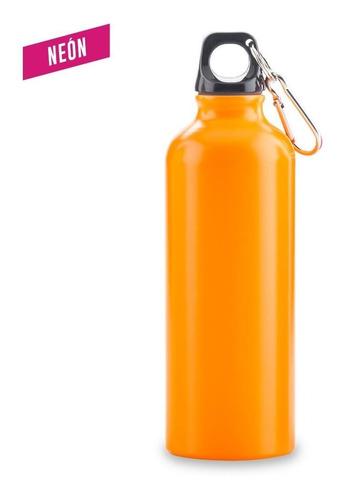 botilito metálico sport bottle neon - 500 ml. con carabinero