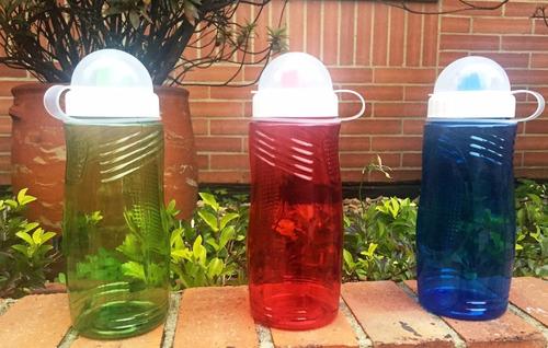 botilito plastico de 400 ml (13,6 onzas) diseño ergonomico
