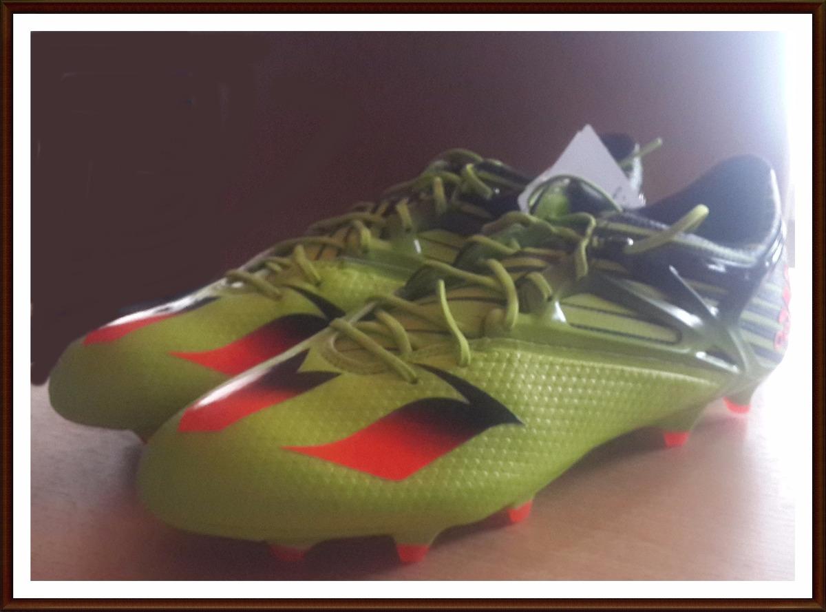 botin adidas messi 15.1 futbol profesional verde electrico. Cargando zoom. 086e03759e032