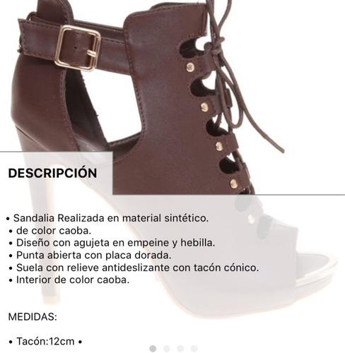 8441bce8149 Botín Bota Pep Toe Fashion Casual Caoba Cafe Chocolate 25.5m ...