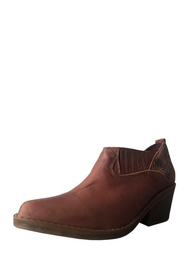 botín botín mujer macarena chocolate cuero d-pie