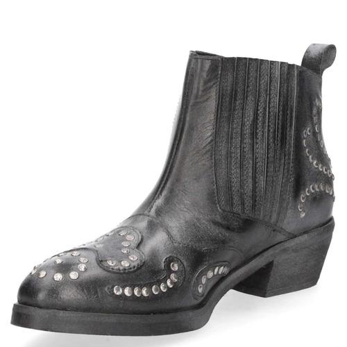 botín casual zappa mujer negro - t206