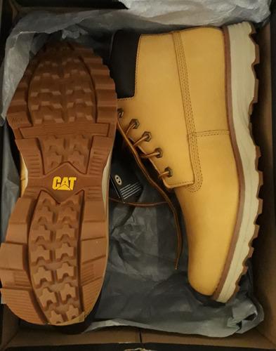 botín caterpillar founder color honey 9 1/2 nuevo original .
