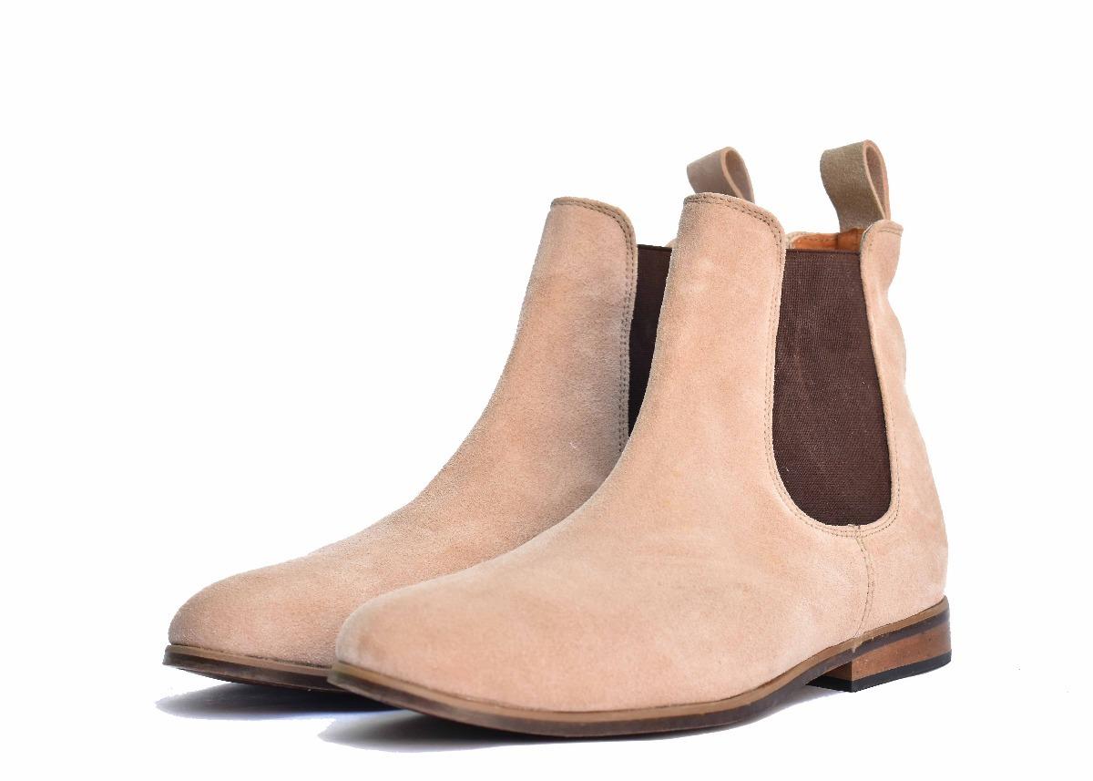 c75f4bce79d botín chelsea boots piel gamuza color beige andre bocassi. Cargando zoom.