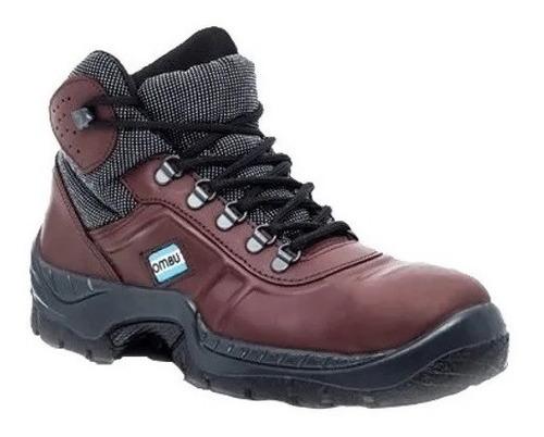 botin  de trabajo y  calzado seguridad ozono ombu marron