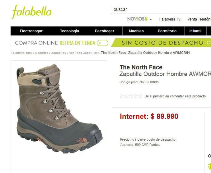zapatillas north face mujer ripley