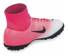 71a3aef64ac Botin Nike Mercurial Rosa Blanco - Fútbol en Mercado Libre Argentina