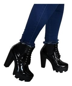 mejor selección 445de cb4c4 Botín Outfit Chelsea Charol Mujer Negro