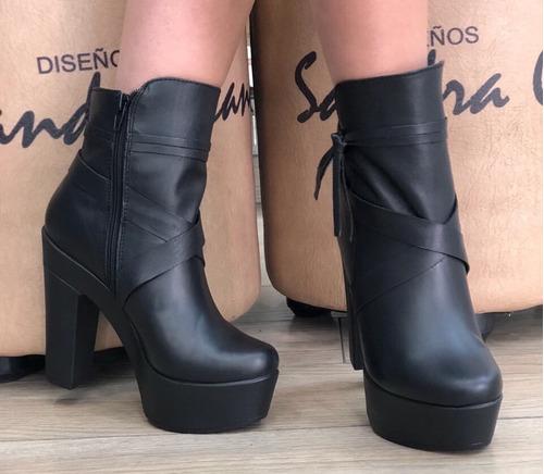 botin para mujer plataforma sandra cano shoes