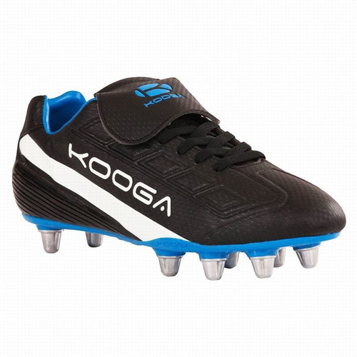 botin rugby venom negro azul b kooga