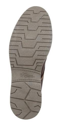 botín triples de piel mocka mod. rocco