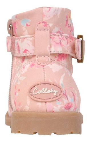 botin vestir rosado caña alta con cierre niña colloky