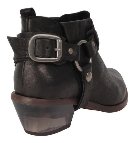 botin zappa mujer negro - r375