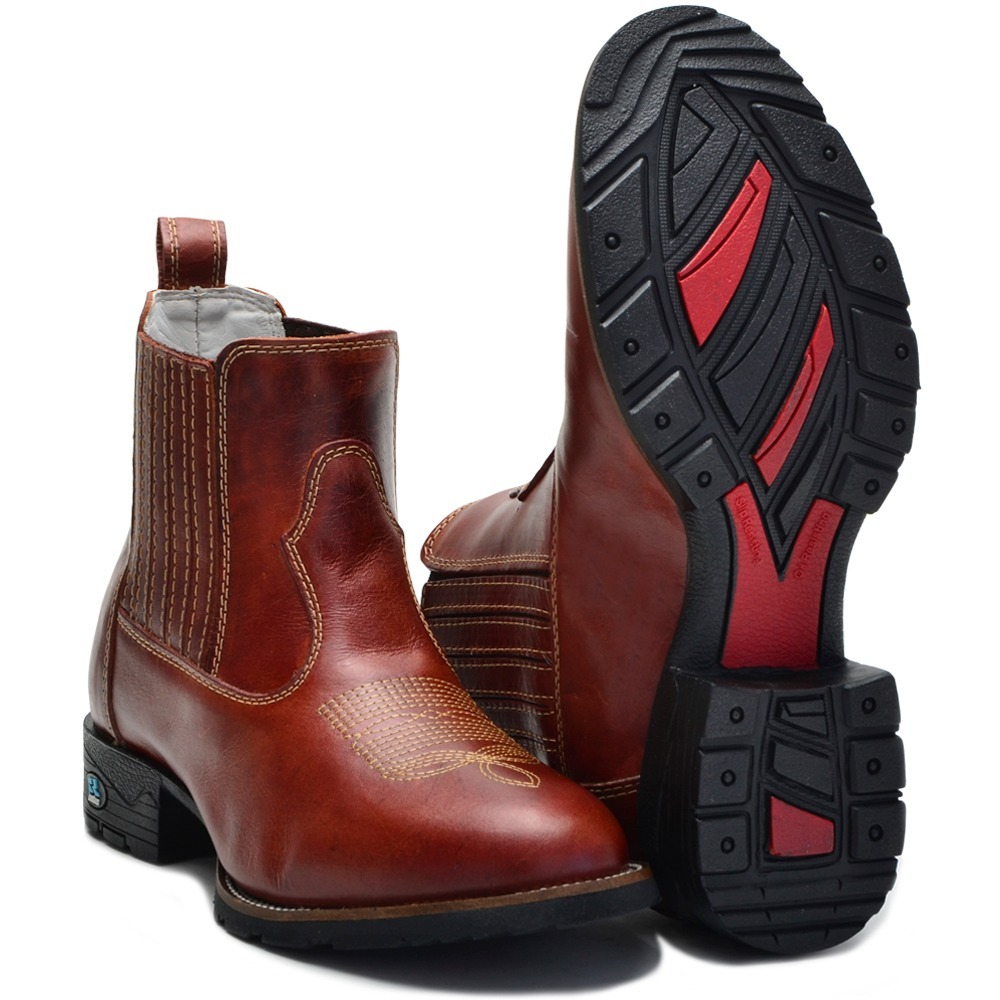 67fcd0f739 botina bico redondo masculina bota cano curto couro country. Carregando zoom .