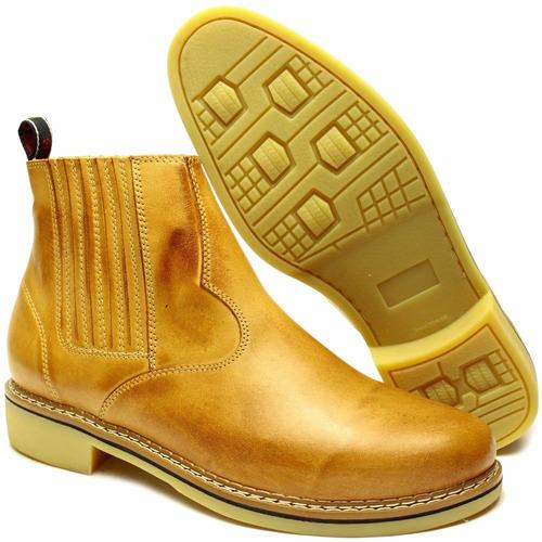 botina bota country feminina couro nobre barata botinha 2und