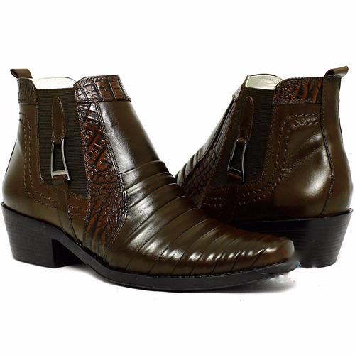 botina bota country feminina de couro nobre barata botinha