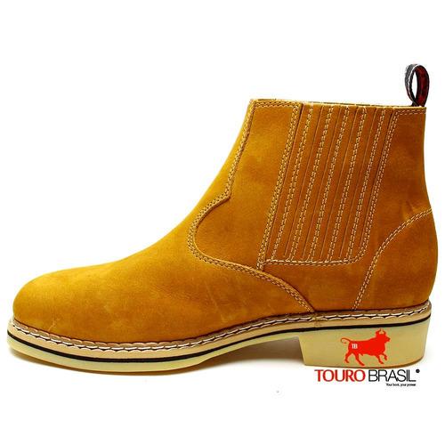 botina bota country masculin couro nobre barata botinha 2und