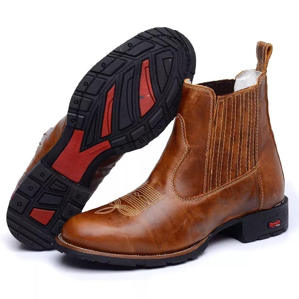 1ce4c7c23e botina bota country texas masculina couro liso amarela. Carregando zoom.