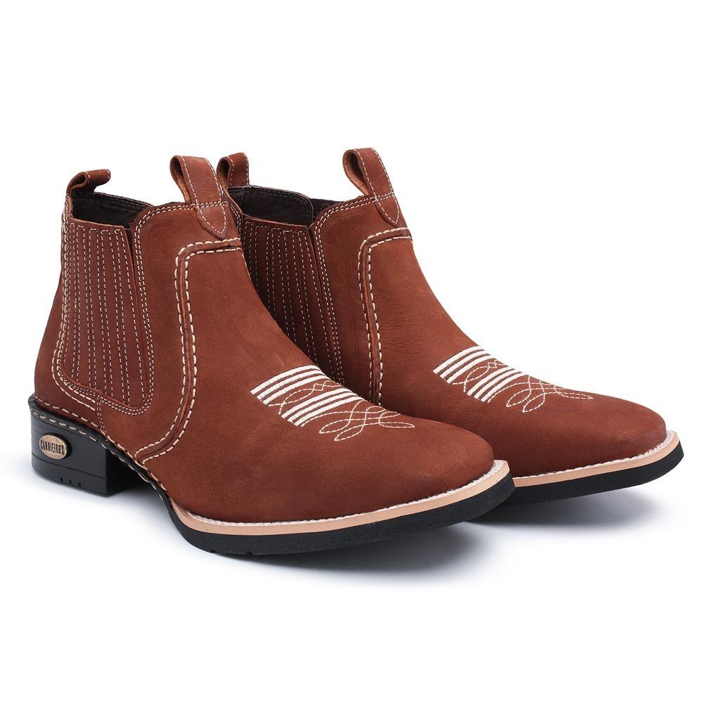 botina bota masculina cano curto couro country bico quadrado. Carregando  zoom. 5a4eae52d39