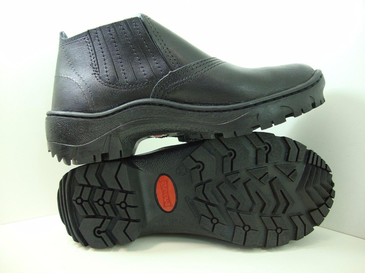 a375a502a8 botina bota masculina em couro reforçada fortz. Carregando zoom.