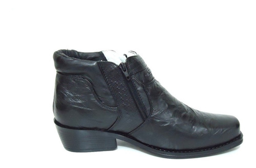botina bota masculina forrada alcalay confort leve de couro