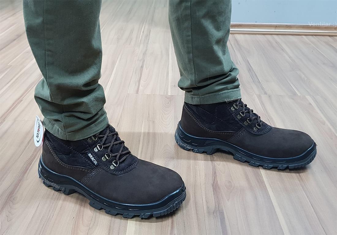 074a90d0e26d5 botina bota nobuck segurança bico pvc bracol café ca 27300. Carregando zoom.