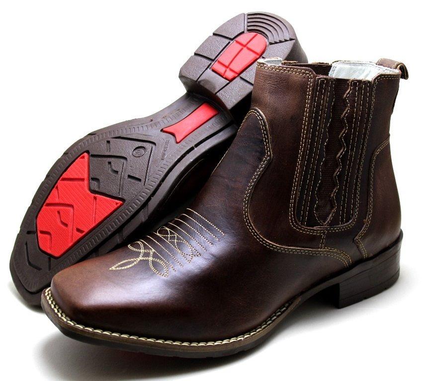 733bca1a0 botina bota texana feminina country cano curto em couro luxo. Carregando  zoom.
