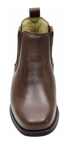 botina botina masculina couro legítimo linha conforto macia