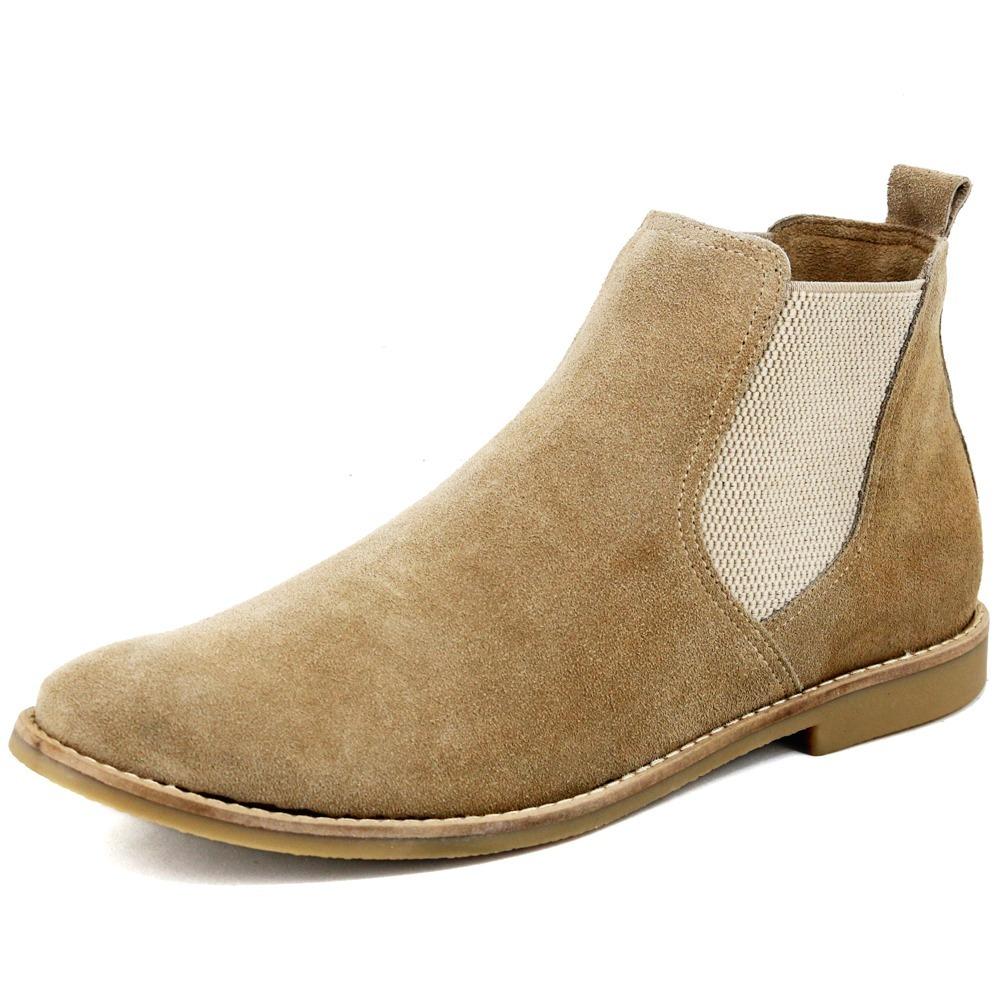 d890fb77cfaf7 botina chelsea boots escrete em couro camurça 502 areia. Carregando zoom.