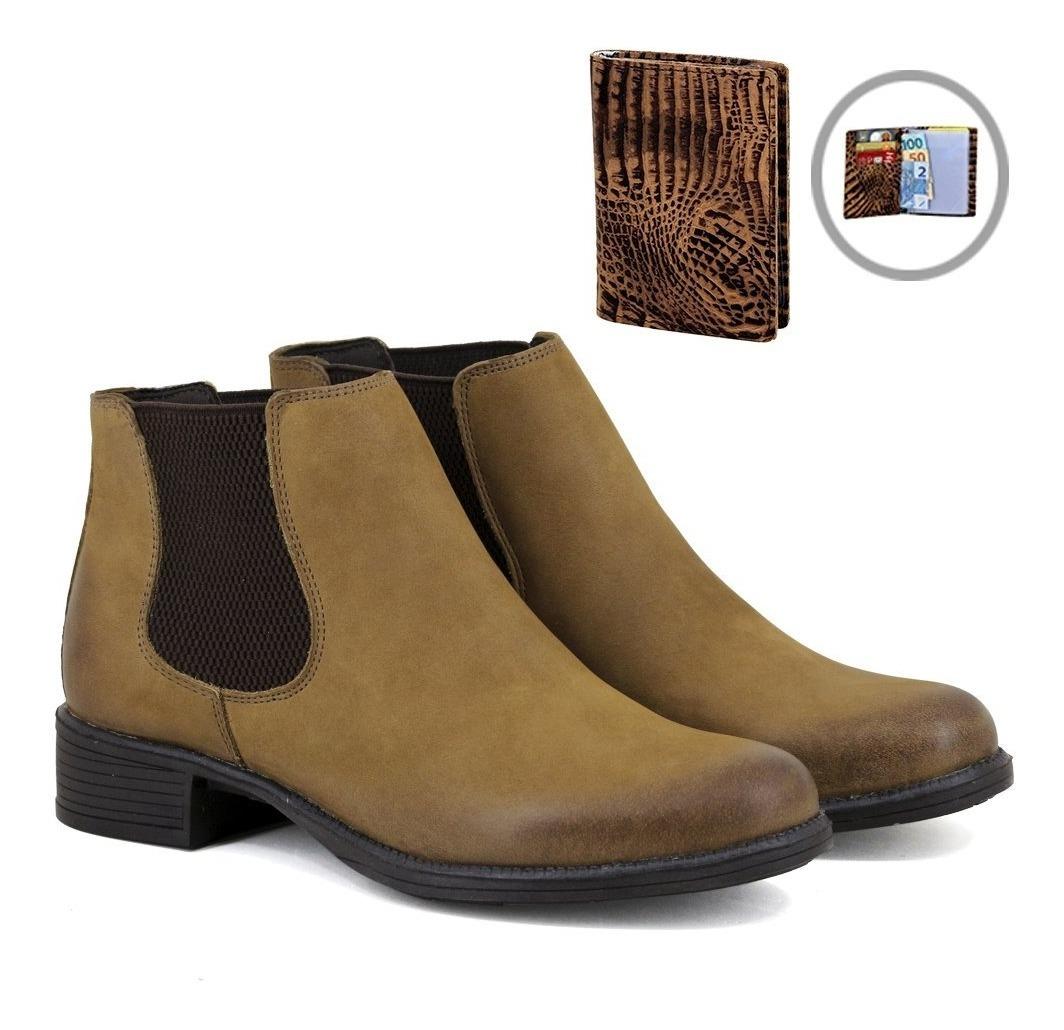 cbcf2673e6 botina chelsea boots lançamento feminina em couro + brinde. Carregando zoom.