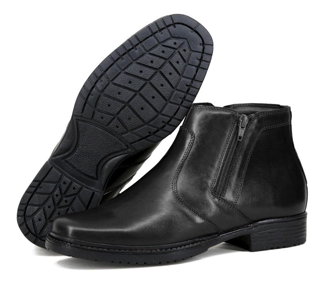 f21063807d2c5 botina conforto anti stress para trabalho em couro preto. Carregando zoom.