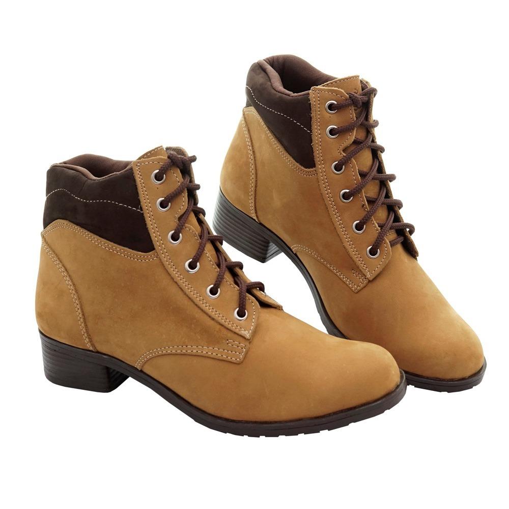 c0ce7db91 botina coturno bota feminina búfalo cadarço estilosa leve. Carregando zoom.