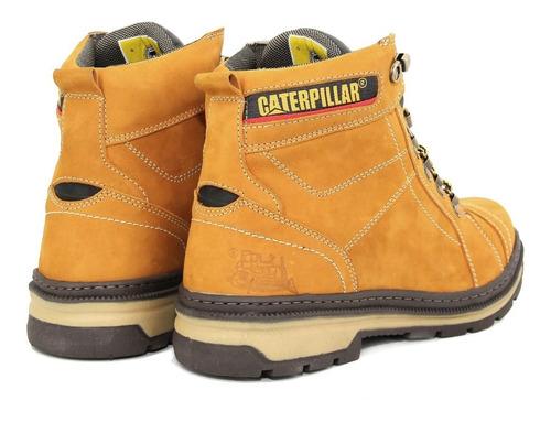 botina coturno caterpillar couro original ref: 800