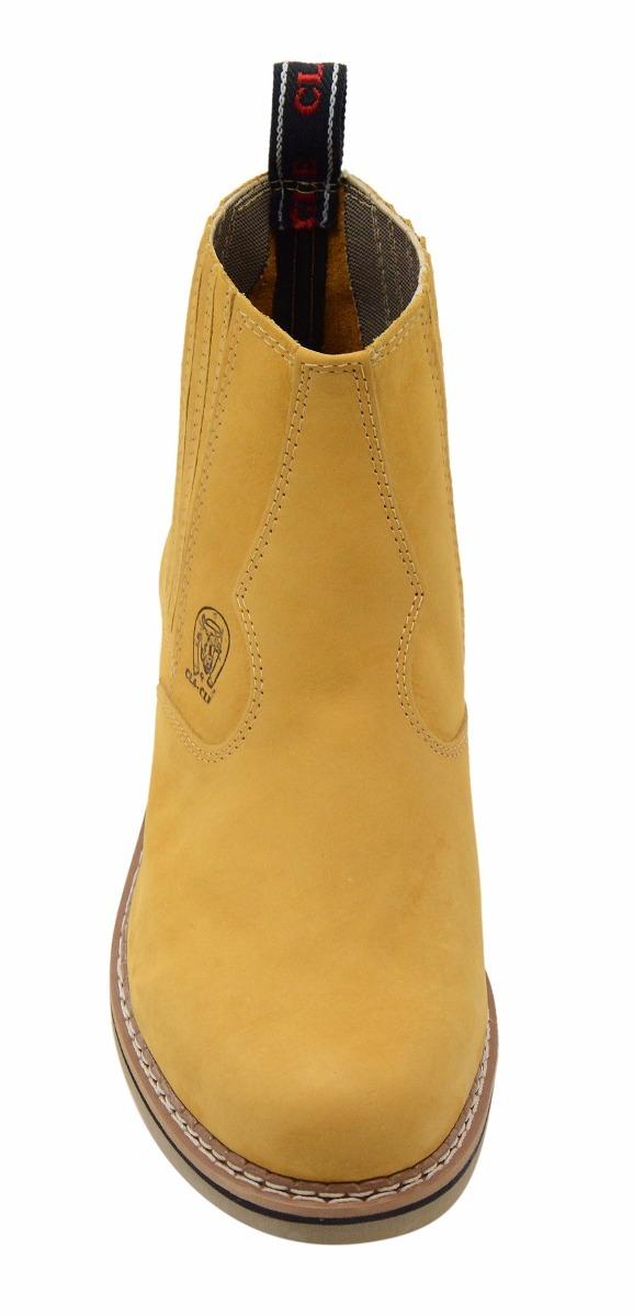 botina country 100% couro bota masculina sola de borracha. Carregando zoom. 6e3e9fff5ad