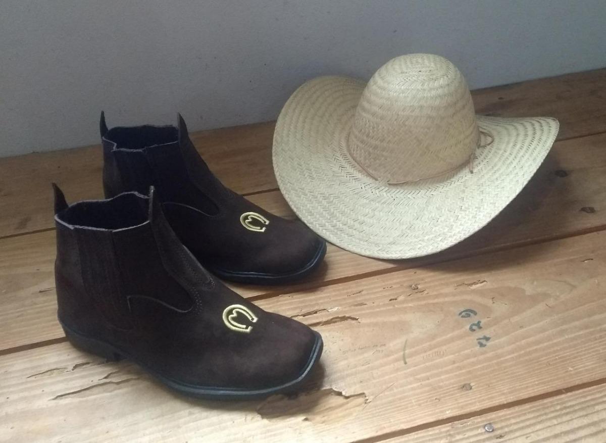 botina country mangalarga+ chapéu de palha cavalgada oferta! Carregando zoom . 6b234edf8f6