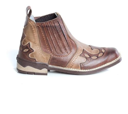 botina country trice 100% couro bct-04  bota masculina