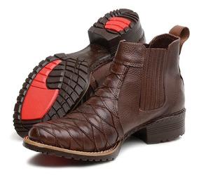 13b844809b Botina Anti Stress Couro De Carneiro - Sapatos com o Melhores Preços no  Mercado Livre Brasil