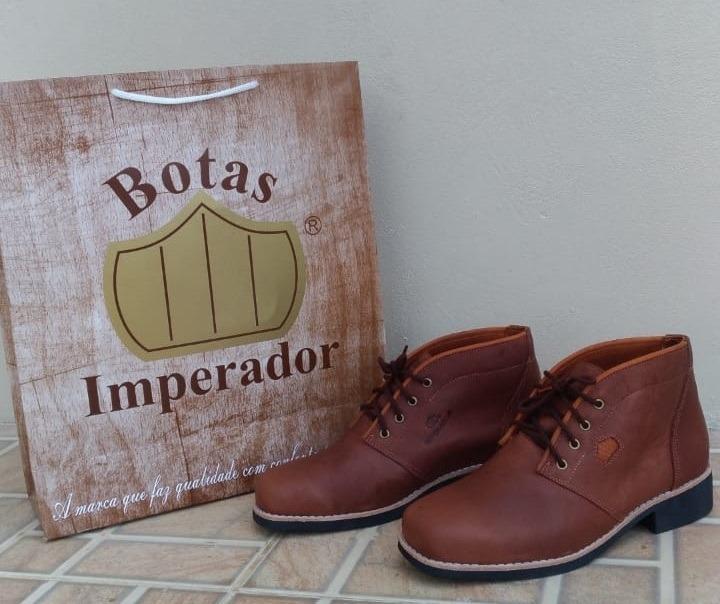 5bbaa1290ace1 Botina Imperador Tradicional Confort Café Impermeável - R$ 380,00 em ...