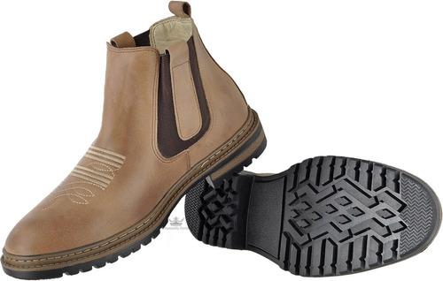 botina masculina ademane boot's couro legitmo bota coturno