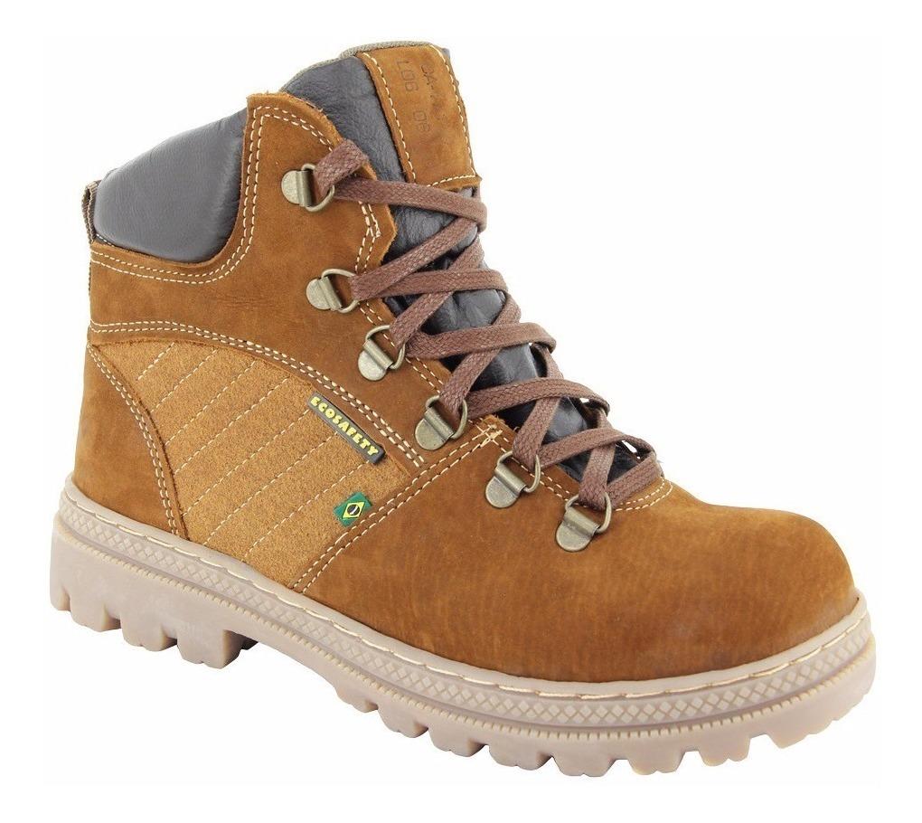 b6baf65c8d botina masculina bota segurança ca couro trilha ecosafety. Carregando zoom.