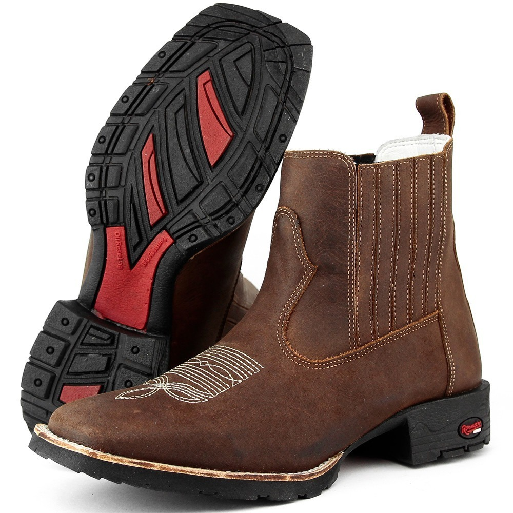 ... fa7a7016cd9 botina masculina bota texana couro country peão bordado. Carregando  zoom. ... ac910e09a39