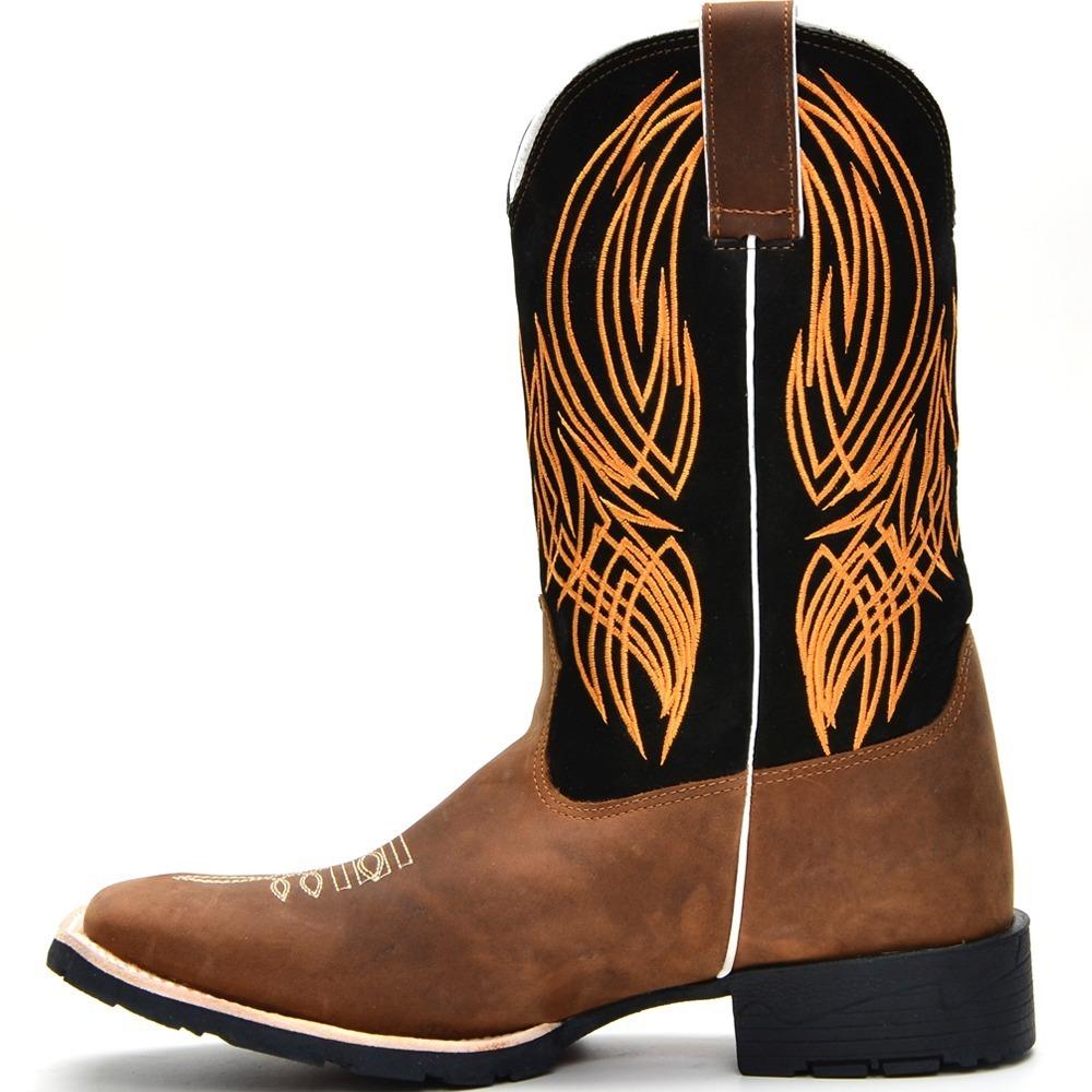 3f28cc2a118e2 botina masculina bota texana couro country peão bordado amar. Carregando  zoom.