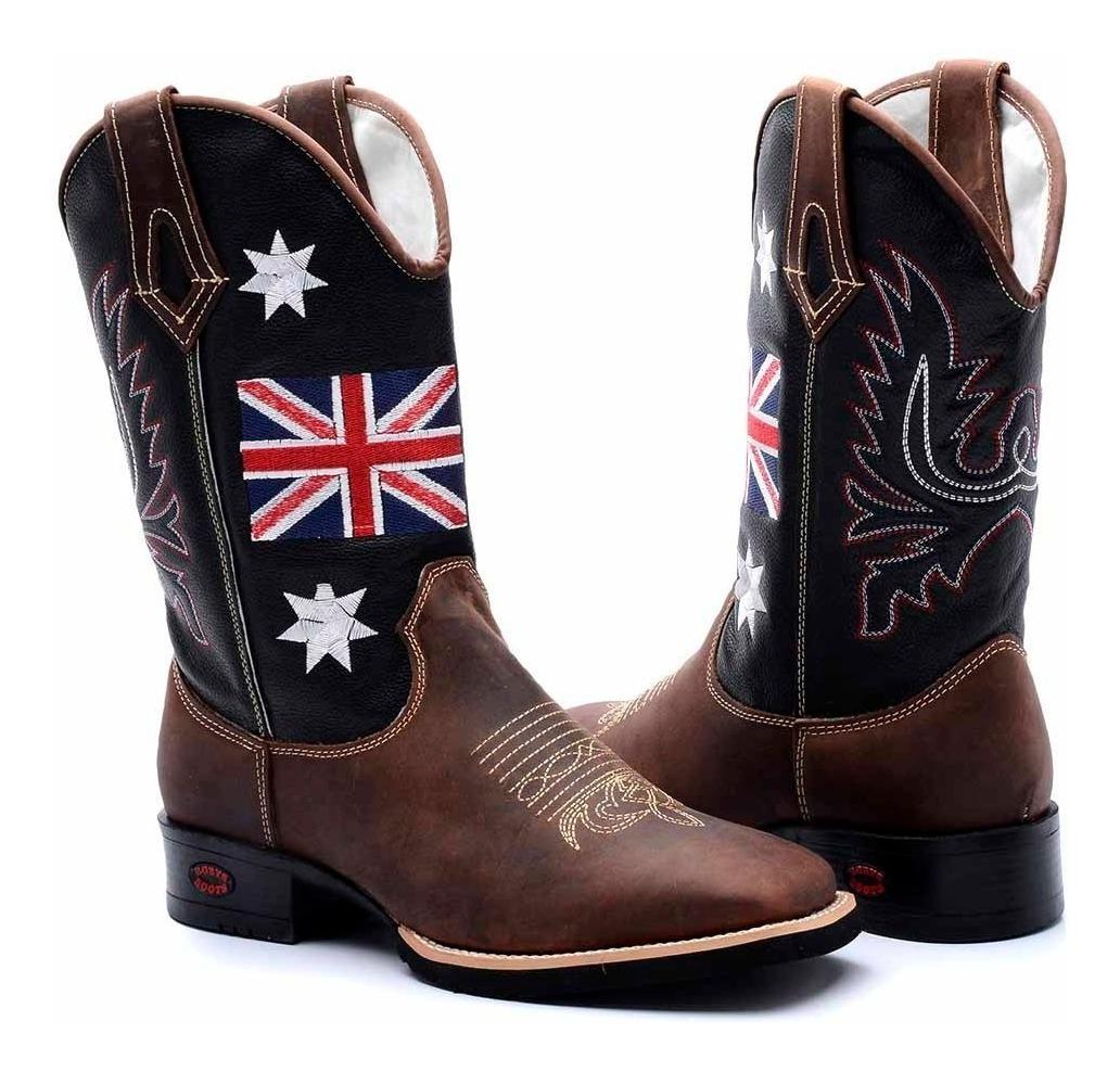 b9402905ec botina masculina bota texana couro country peão inglaterra. Carregando zoom.