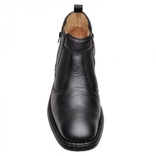 botina masculina comfort dr shoes em couro - ref 1001