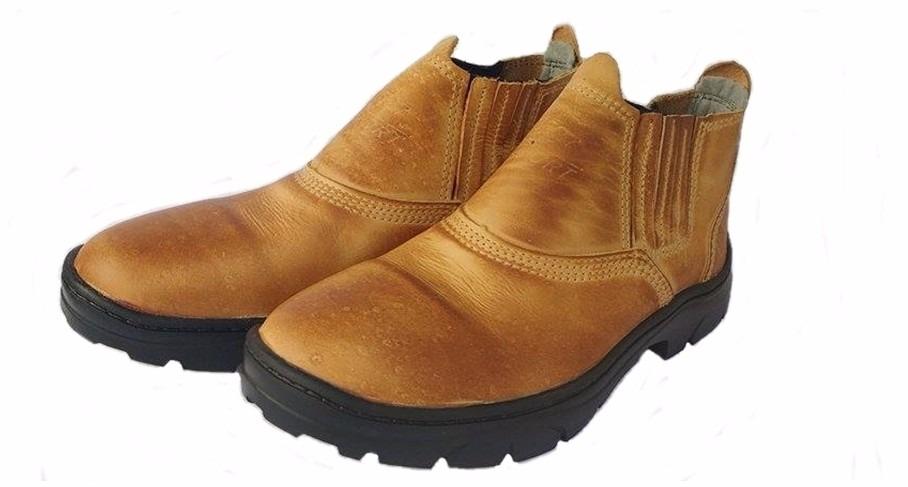 c459cb37f800a ... ce2c67b7f83 botina masculina elastico bota segurança coturno couro ca. Carregando  zoom.