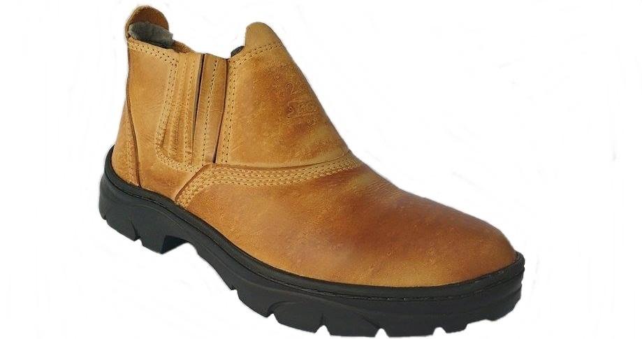 5f787a363c1c0 Carregando zoom. ce2c67b7f83 botina masculina elastico bota segurança  coturno couro ca. Carregando zoom.