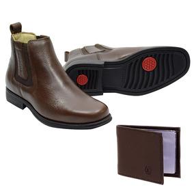 1eb9147210d8a Bota Botina Escrete Couro Legitimo Sapatos Masculino Botas - Botas ...