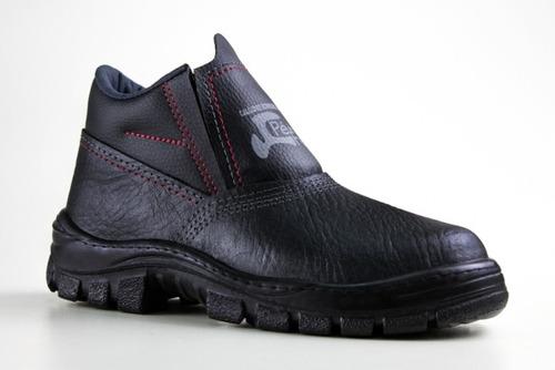botinas de segurança bico pvc elást marca pé de ferro